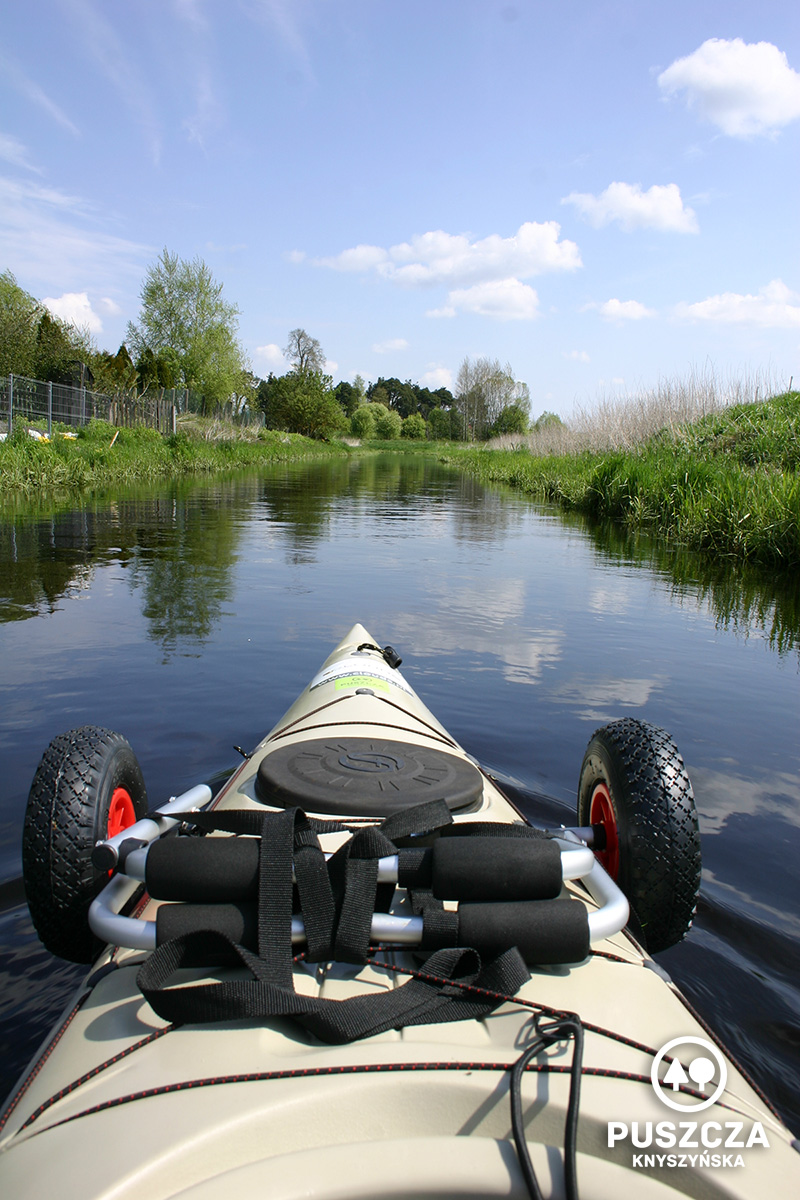Gródek, początek spływu kajakowego   Rzeka Supraśl - Puszcza Knyszyńska