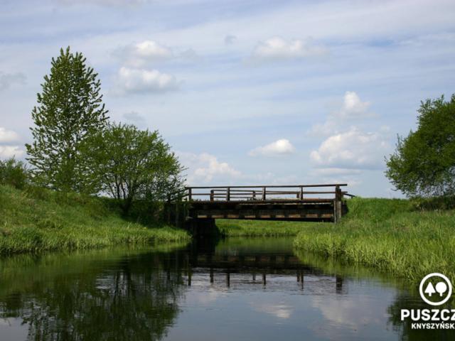 Gródek, mały mostek   Rzeka Supraśl - Puszcza Knyszyńska
