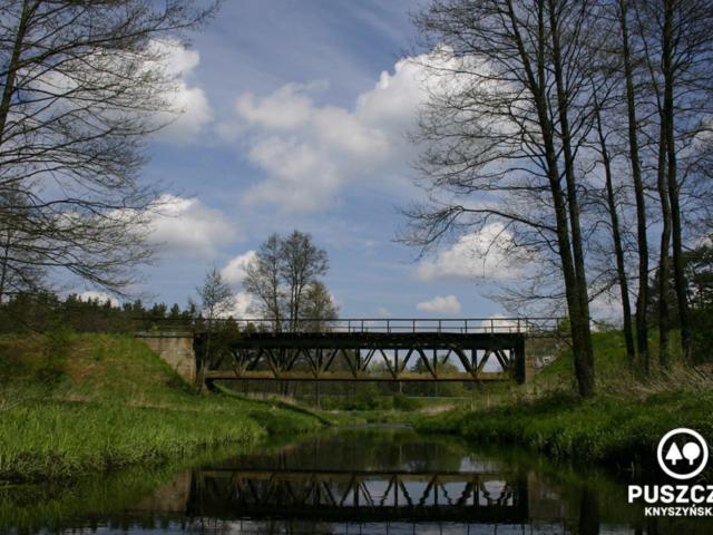 Most kolejowy w okolicy Gródka   Rzeka Supraśl - Puszcza Knyszyńska